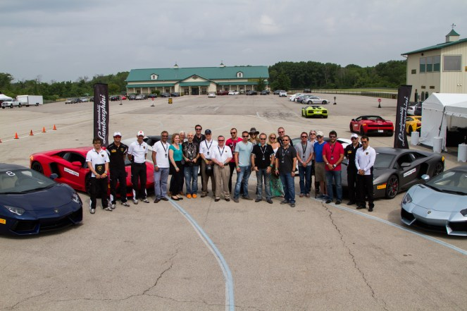 Lamborghini customer track day at Autobahn Raceway 2