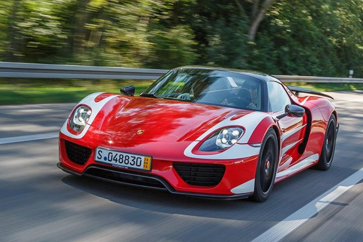 Mark Webber's Porsche 918 Spyder Weissach