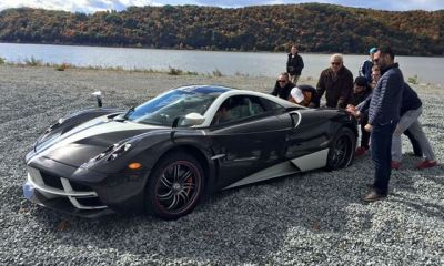 Used Honda rescues beached Pagani supercar