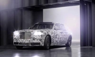 2018 Rolls Royce Phantom official spy shot