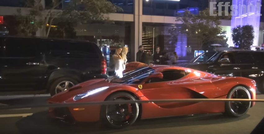 Lewis Hamilton and Justin Bieber spotted in a LaFerrari in Beverly Hills