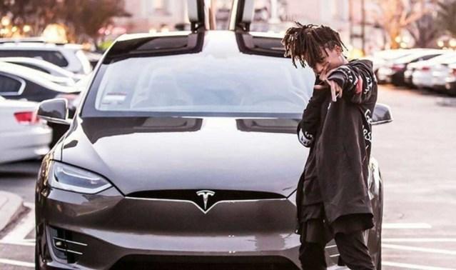 Karate Kid Jaden Smith Drives a Tesla Model X