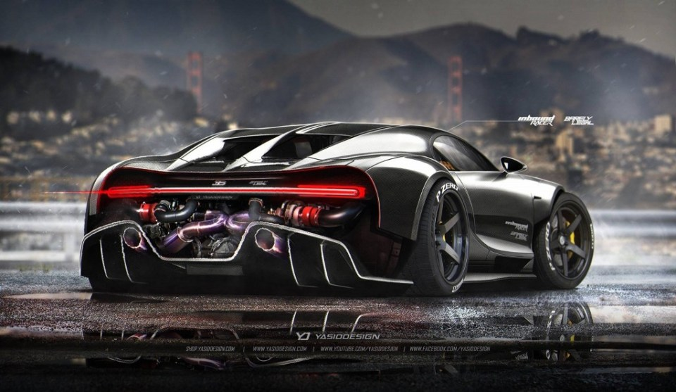 Bugatti Chiron Racecar Rendering by YasidDESIGN