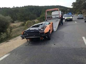 Lamborghini Bicolore Crash in France-1
