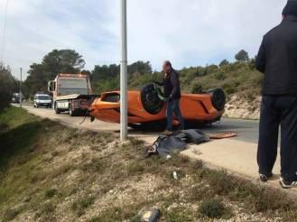 Lamborghini Bicolore Crash in France-7