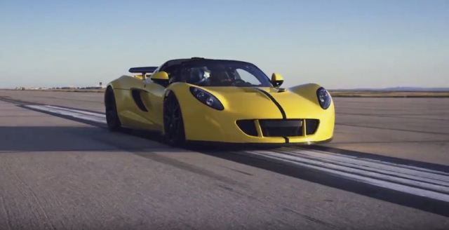 Hennessey Venom GT sets new world speed record