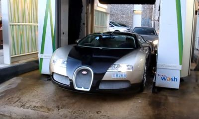 How not to wash a Bugatti Veyron