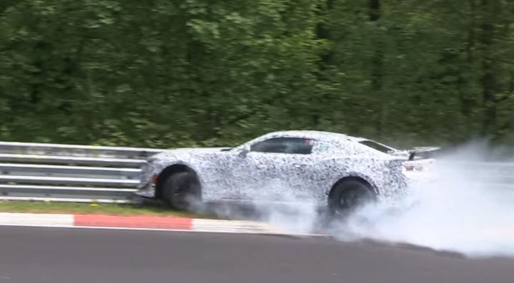 2016 Camaro Z28 crashed at Nurburgring