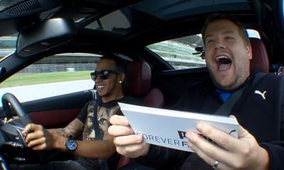 Lewis Hamilton interviewed by James Corden