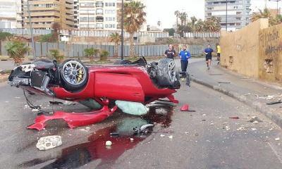Porsche 911 GT3 crashed in Lebanon