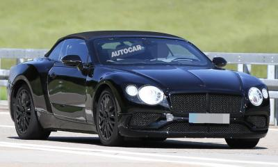2018 Bentley Continental GT Convertible-spy shots-1