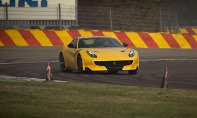 Chris Harris drives the Ferrari F12tdf at Fiorano