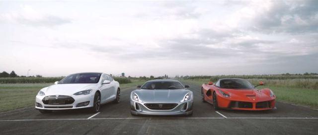 Rimac Concept One vs Ferrari LaFerrari