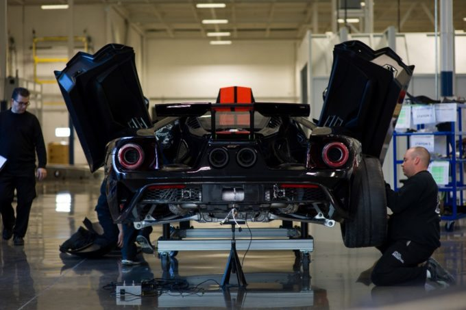 First 2017 Ford GT rolls off assembly line-2