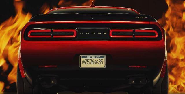 Dodge Challenger Demon coded message teaser