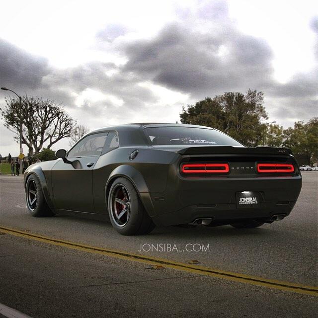 Dodge Challenger Demon rendering by Jonsibal