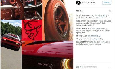Dodge Challenger SRT Demon images leaked-1