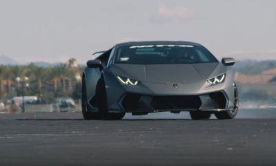 Jon Olsson drifts a Lamborghini Huracan