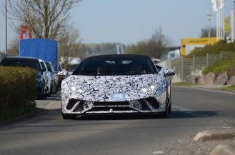 Lamborghini Huracan Performante Spyder-spy shots-Nurburgring-3
