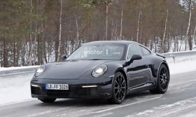 2019 Porsche 911 spy shots-1