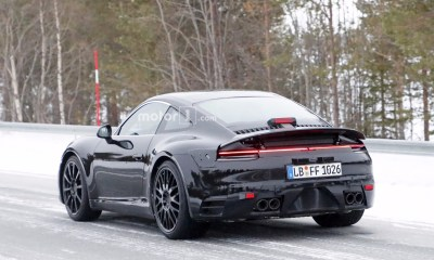 2019 Porsche 911 spy shots-tail lights
