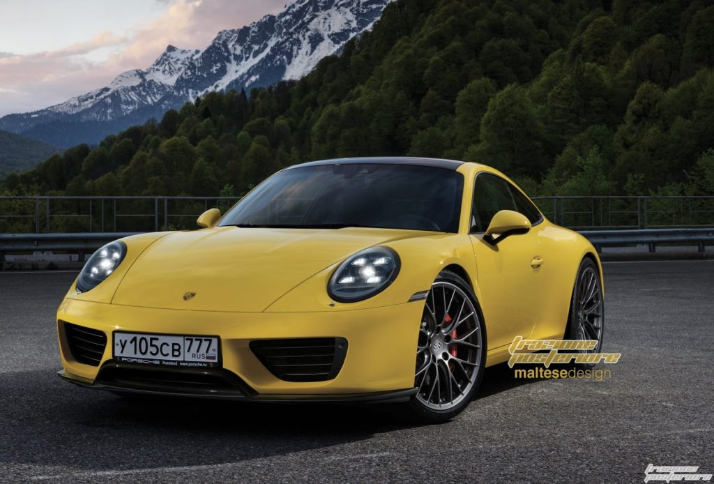 2019 Porsche 911 Rendered with Updated Looks