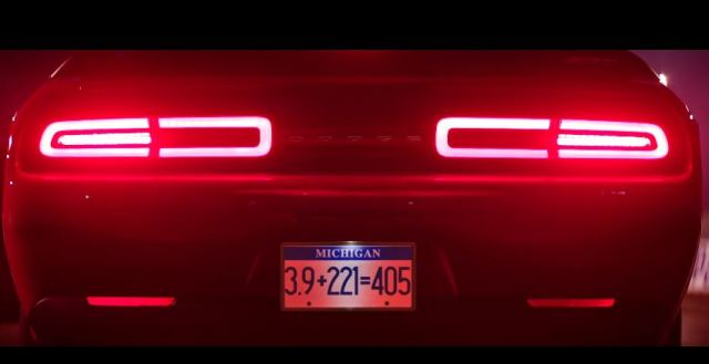 Dodge Challenger Demon engine sound teaser