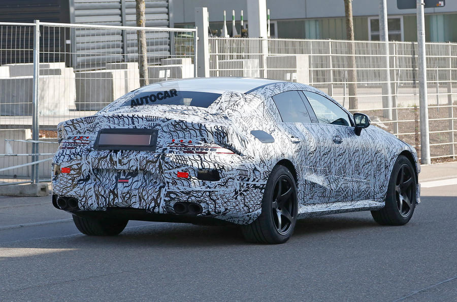 Mercedes-AMG GT Saloon test mule spotted in Germany-2