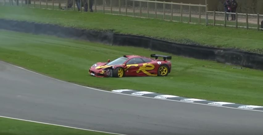 Pink Floyd's Drummer Crashes Multi-Million Dollar McLaren F1 GTR at Goodwood