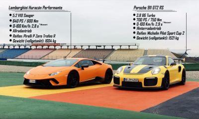 Porsche 911 GT2 RS-Huracan Performante-Sport Auto