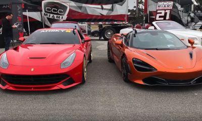 McLaren 720S vs 800hp Ferrari F12