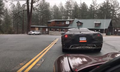 Mid-engine Corvette C8 test mule spotted-California