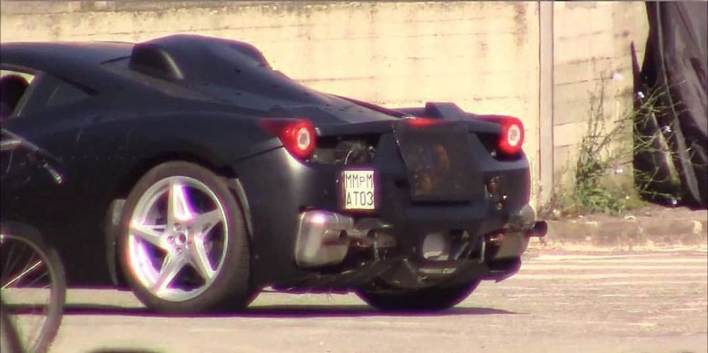 Ferrari 458 hybrid test mule prototype scoop 1