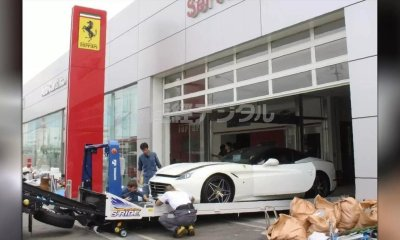 Ferrari dealership damage japan 51 cars typhoon jebi 1