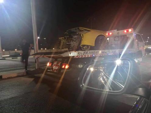 Lamborghini Huracan Egypt Crash-4