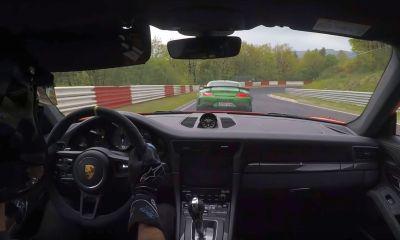 Porsche 911 GT3 RS vs Mercedes-AMG GT R-Nurburgring
