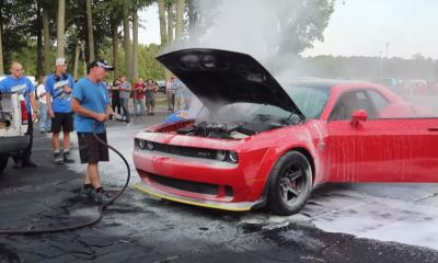 Dodge Demon on Fire