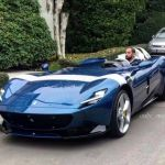 Ferrari Monza Sp1 In Blue Looks Simply Gorgeous The Supercar Blog
