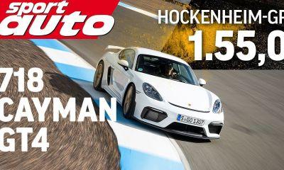 Porsche 718 Cayman GT4-Hockenheim lap time