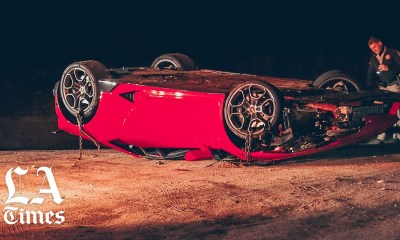 Lamborghini Huracan-Crash-LA-Highway