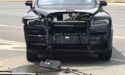Rolls Royce Cullinan Black Badge-Crash-China-1