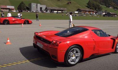 Ferrari Enzo-LaFerrari-drag-race