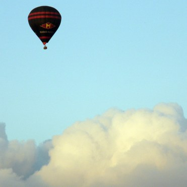 Balloon and clouds