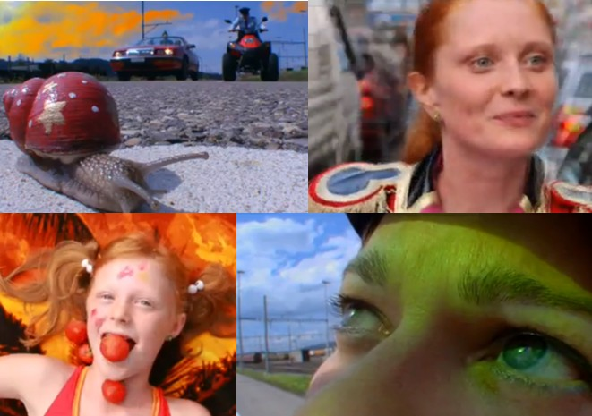 Pepperminta: Collage of stills from film trailer