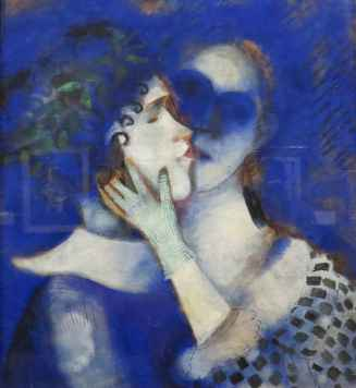 Chagall: The Lovers in Blue