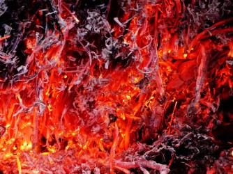 Easter bonfire close-up