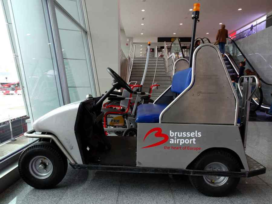 Brussels airport cart