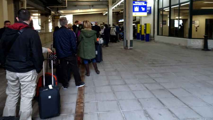 Brussels airport taxi queue