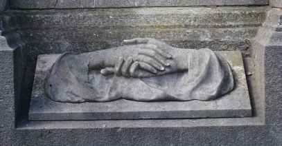 Clasped hands