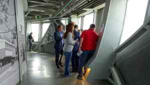 Time travel: Atomium - interior of observation deck